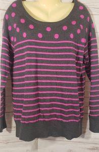 Like New Torrid Striped & Polka Dot Sweater